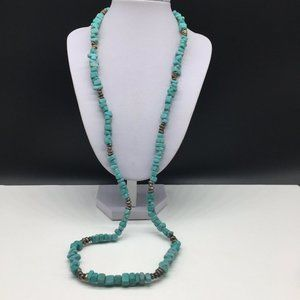 Premier Designs Turquoise Stone Beaded Necklace